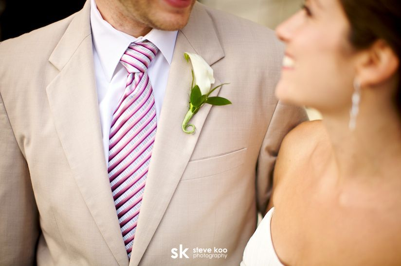 Real Weddings: Amanda + Matt | Khaki suits, Tan tuxedo and Wedding