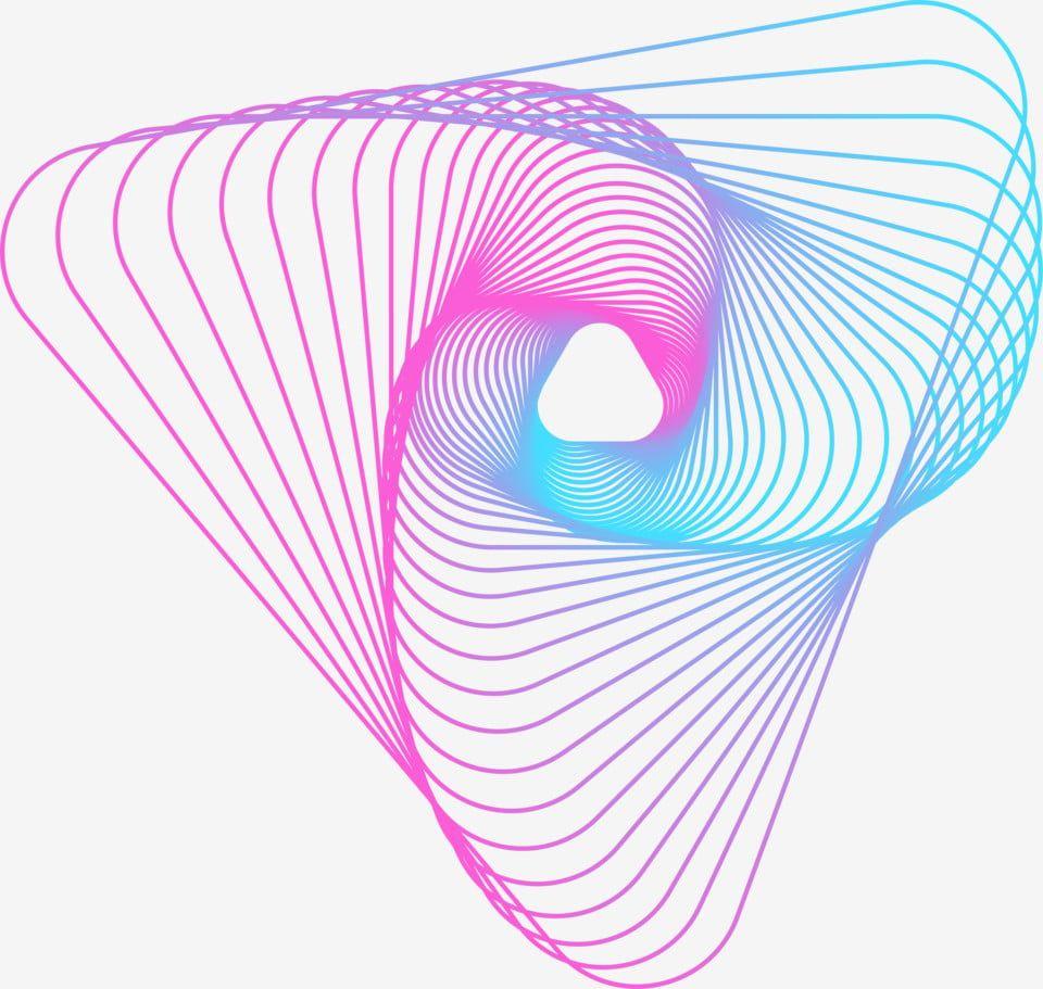 Colorful Gradient Blue Purple Gradient Line, Geometric