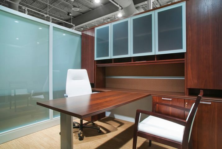 Rockford Business Interiors Private Office   @Steelcase wood veneer #office #commercial #furniture #interior