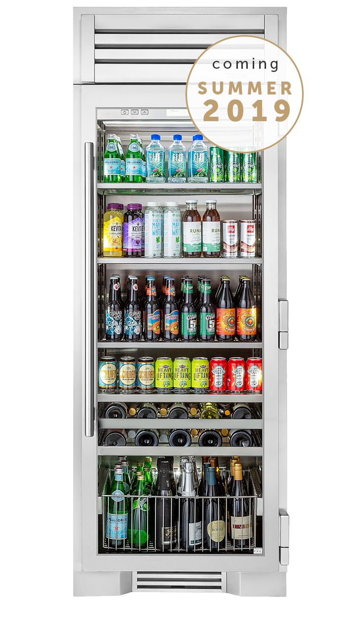 True Residential 30 Beverage Center Glass Door Refrigerator