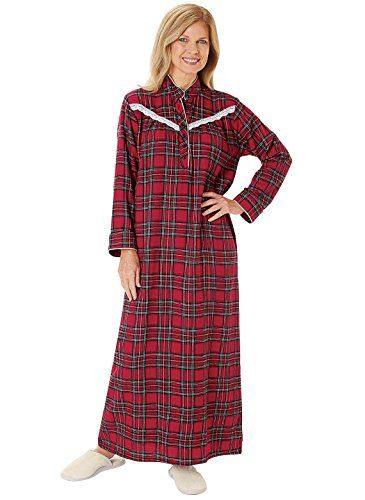 Plaid Flannel Nightgown - Women s Sizes 12ee6bbe5