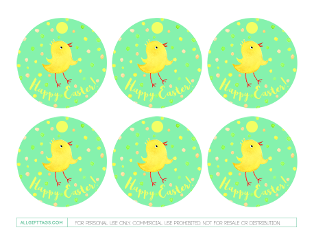 Printable easter gift tags featuring a baby chick and happy easter printable easter gift tags featuring a baby chick and happy easter text free negle Choice Image