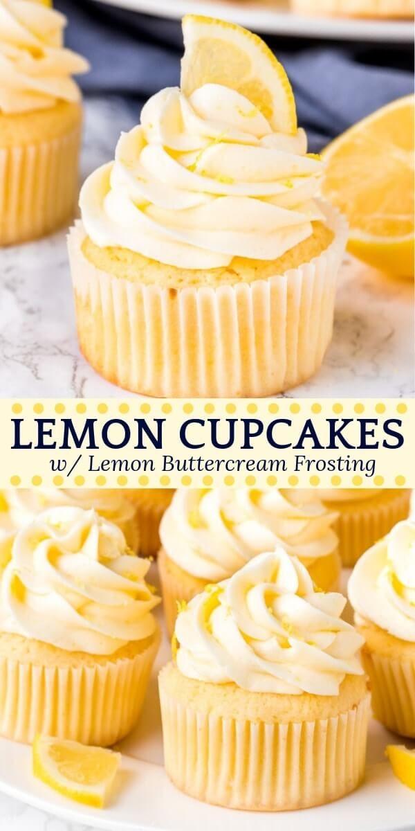 Lemon Cupcakes #lemonbuttercream