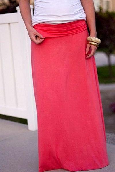 Maxi Skirt Tutorial | Sewing | Pinterest | Nähanleitung, Rock und Nähen