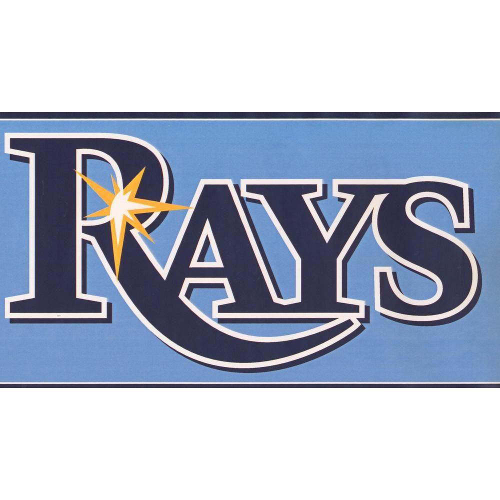 York Wallcoverings Tampa Bay Rays MLB Baseball Team Fan