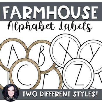 Farmhouse Word Wall Labels (Dunn Inspired) | Classroom Decor