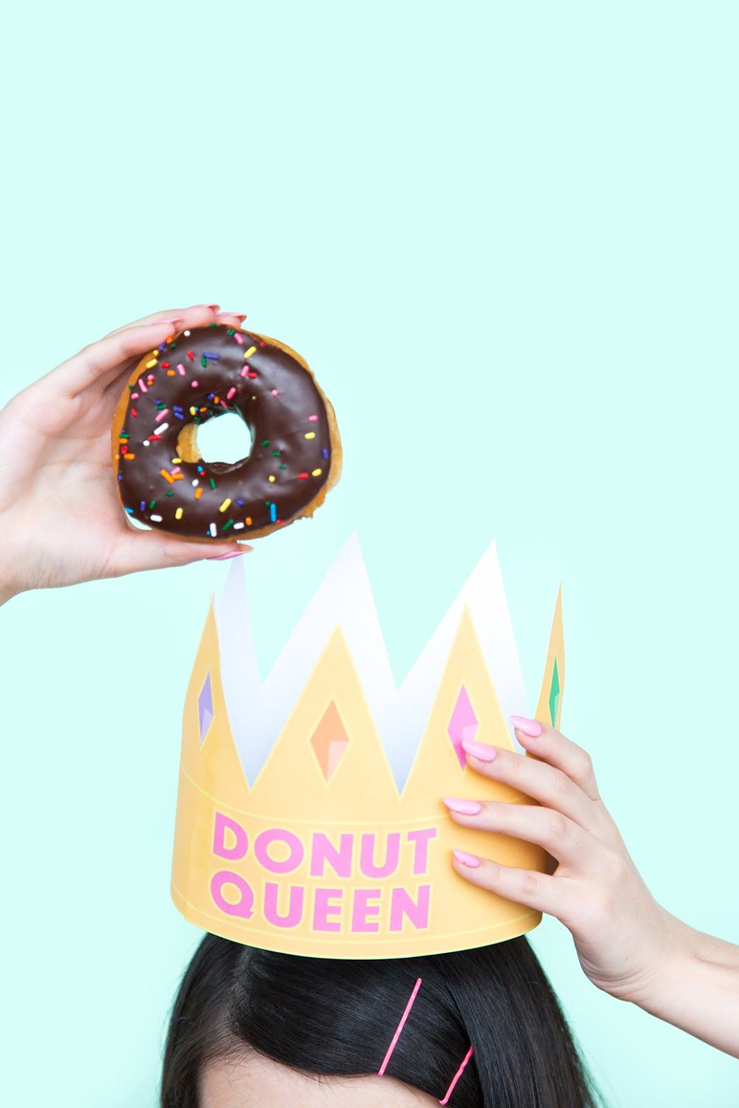 "National Donut Day ""donut Queen"" Crown Printable"