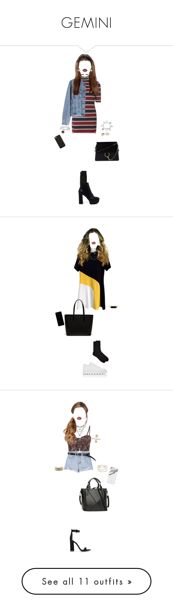"""""""GEMINI"""" by xxeucliffexx ❤ liked on Polyvore featuring Dorothy Perkins, GANT, Casadei, Forever 21, Lime Crime, Effy Jewelry, Cartier, David Yurman, ChloBo and Chloé"""