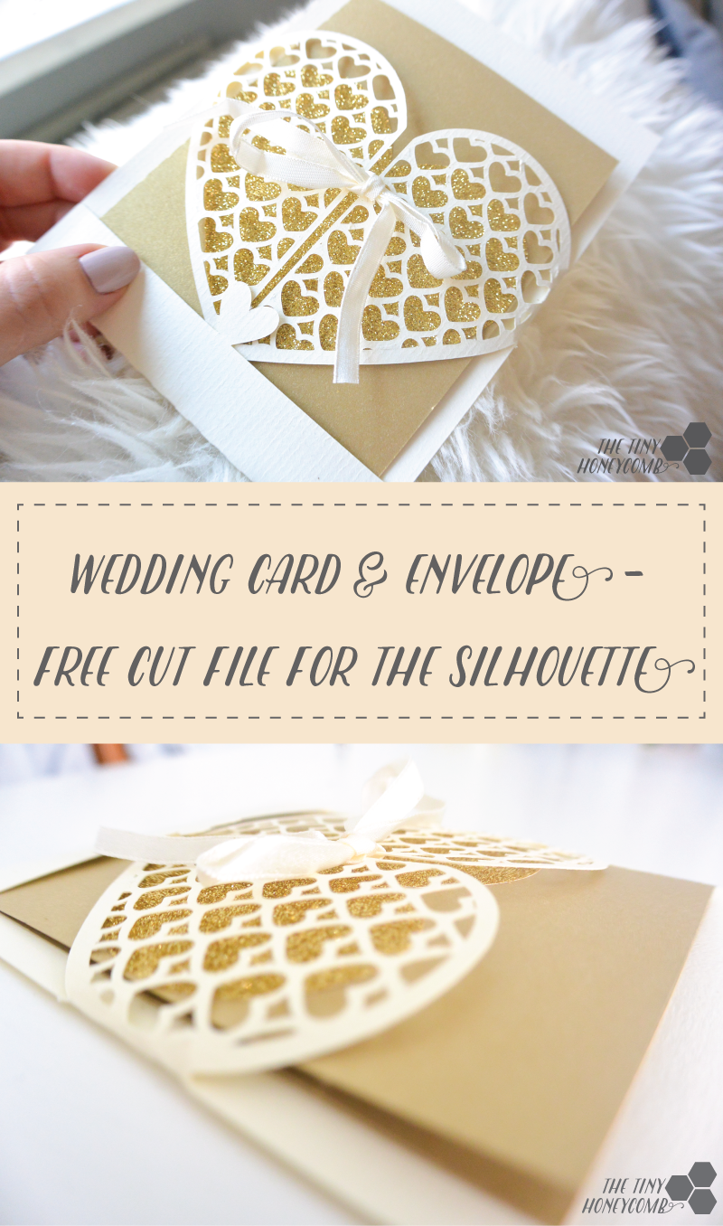 File Cards 10 Heart Svg: Heart Grid Envelope + Free Silhouette Cut