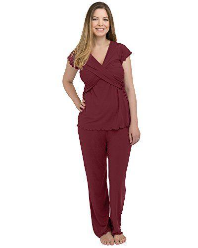 af85e82ebb1e9 Kindred Bravely Davy Ultra Soft Maternity   Nursing Pajamas Sleepwear Set  black