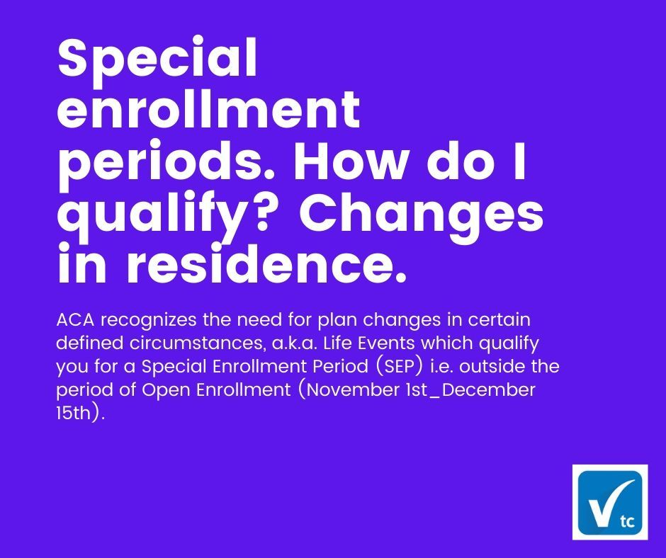 Changes In Residence Qualify For Special Enrollment Period 2020