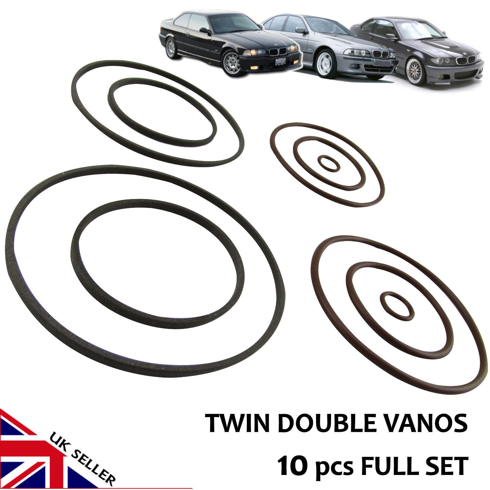 BMW VANOS SEALS Twin Double Dual VANOS Repair upgrade Set For M52TU M54 M56 New