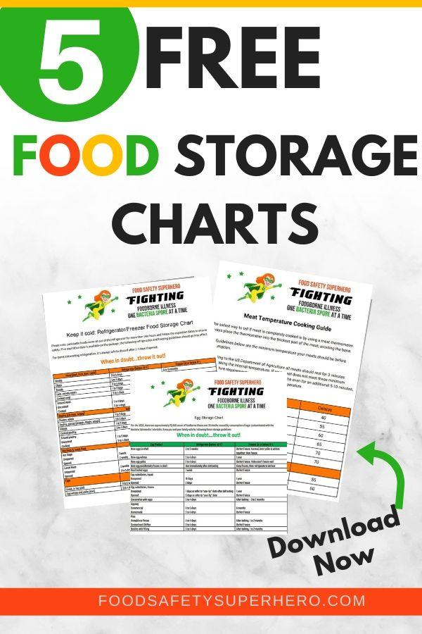 Food Storage Charts Printable In 2020 Freezer Food Storage Food Storage Meat Temperature Chart