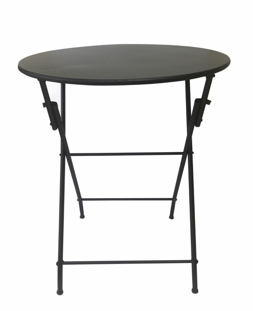 Folding metal table Lge Black Outdoor Pinterest