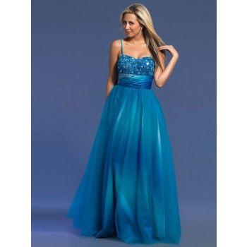elegante bestickt abendkleider blau lang mit trägern  abendkleid kleider abschlussball kleider