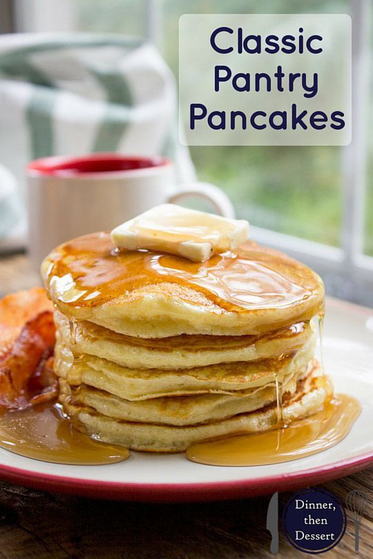 Classic Pantry Pancakes made with basic pantry ingredients. You don't need to…
