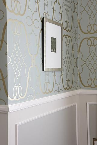 Sarah Richardson Sarah 101 Dining Room Painted Panel Wallpaper