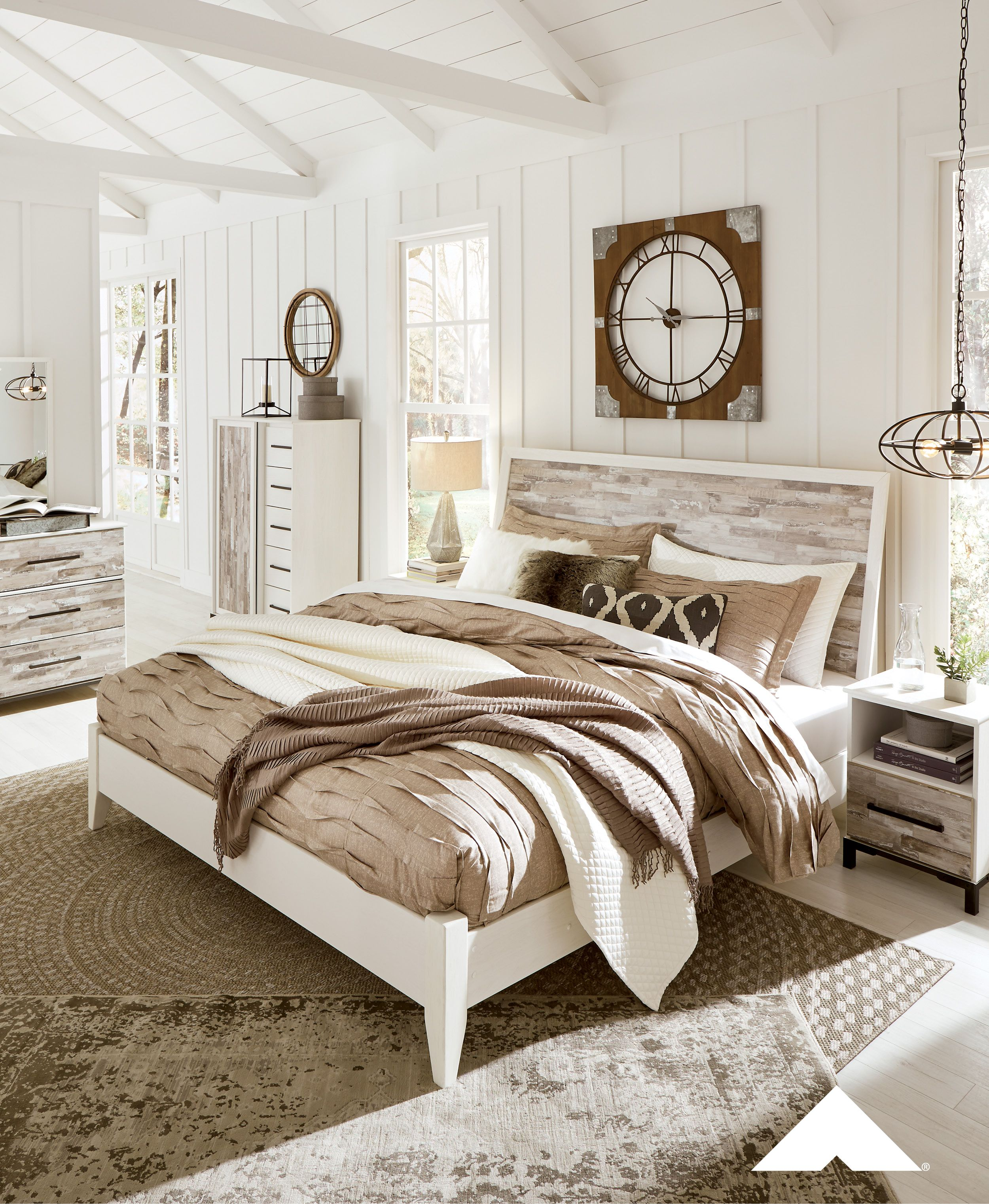 Evanni Rustic Master Bedroom By Ashley Furniture Ashleyfurniture Homedecor Bedrooals Bedroomideas Bedroominspiration