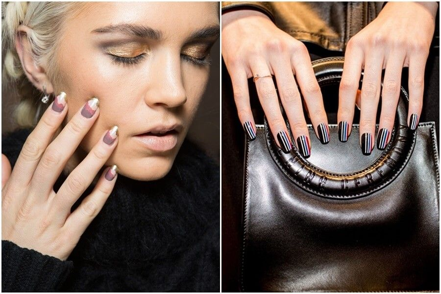Multi-colored nails trend fall 2015 by FTG at http://www.fashiontogo ...