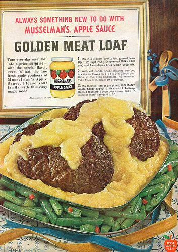 meatloaf with applesauce.. Only in the 1950's!
