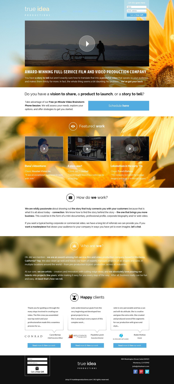 Website Design By Fantasydesign 75 99designs Video Production Company Website Design Award Winning