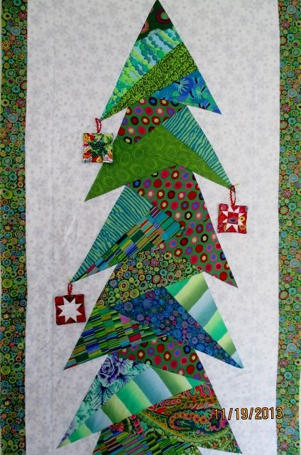 Christmas Tree Quilt : christmas, quilt, Waterwheel, House, Quilt, Fabric, Christmas, Trees,, Patchwork,