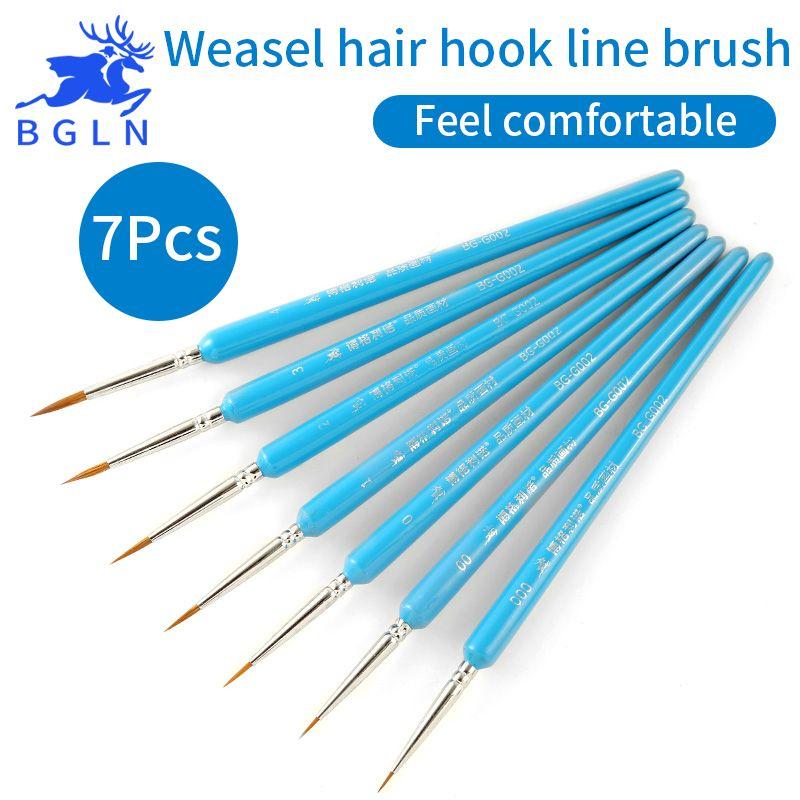 Hook line pen watercolor oil painting fine weasel hair Hand Painted stroke brush