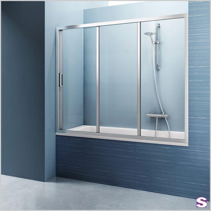 badewannenaufsatz gte mit gte wird ihre wanne zu einer vollwertigen duschkabine die gerahmte dreiteilige schiebetr hat den vorteil dass die montage - Dusche Schiebetur Dreiteilig