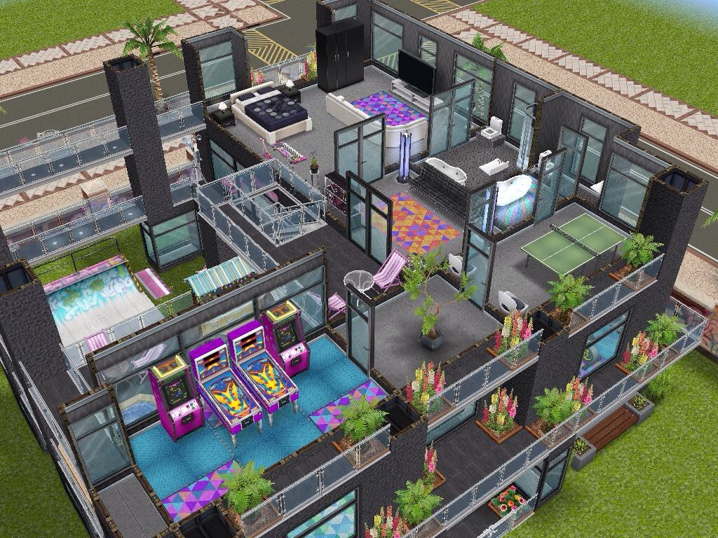 House design sims - House 103 Party House Level 3 Sims Simsfreeplay Simshousedesign