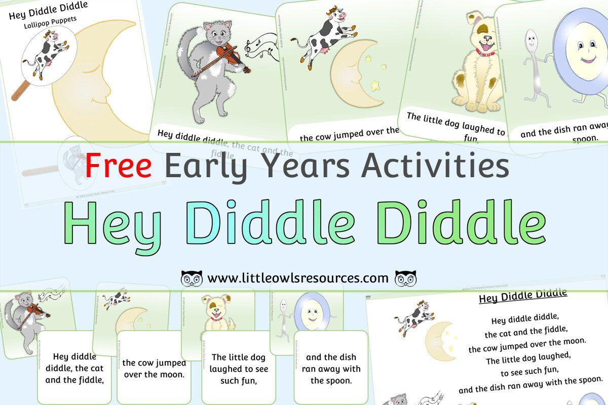 Free Hey Diddle Diddle Nursery Rhyme Printable Resources