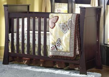Babys Dream Ocean Stationary Crib Converts To Twin Espresso Ocstp Cribs Home Home Decor