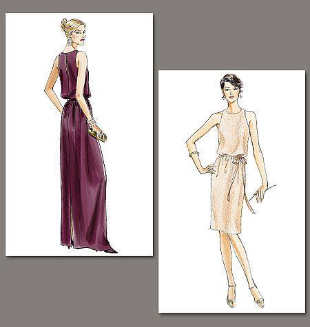 Vogue Pattern: V8241 Misses\'|Misses\' Petite Dress and Belt | Very ...