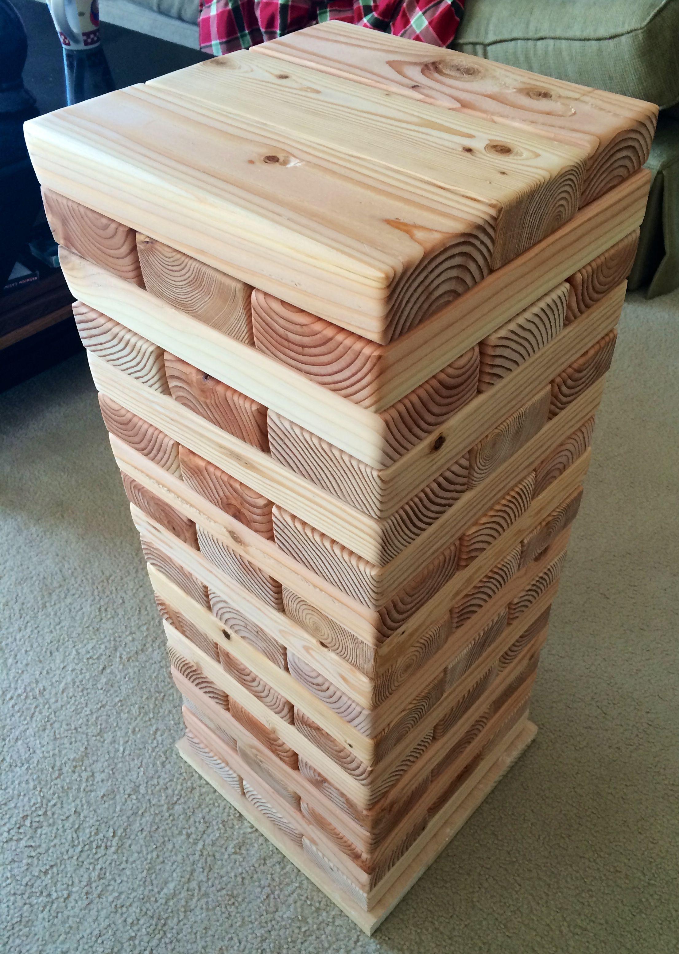 Diy Giant Jenga Wood Games Diy Woodworking Diy Wood