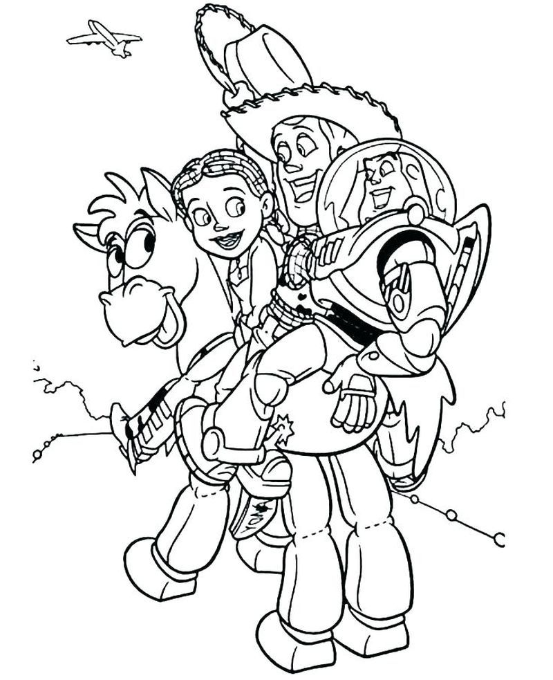 Printable Toy Story Coloring Pages For Children Cartoon