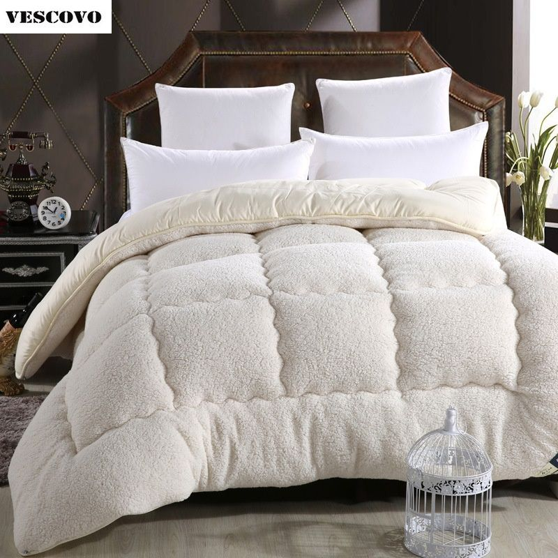 Ikeacasa Trapunta Courtepointe Edredon Decke Wool Lhair Warm Winter Wool Quilt Thicken Comforter Duvet Blanket Lamb Down Fabric Filling King Queen Size Free S In 2020 Duvet Comforters Fluffy Blankets Comforters