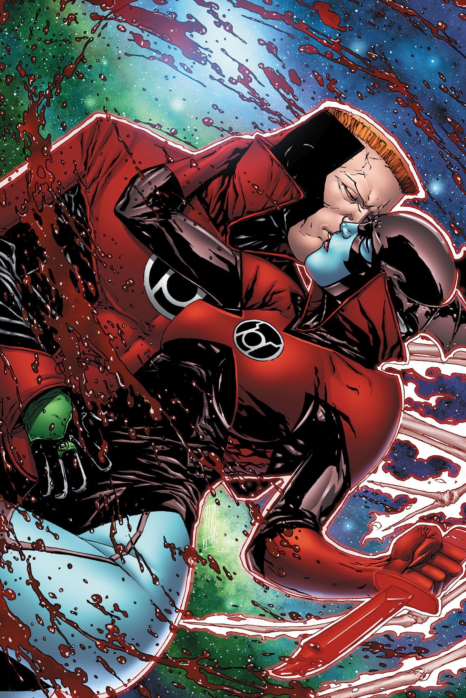 Red Lanterns Guy Gardner and Bleez