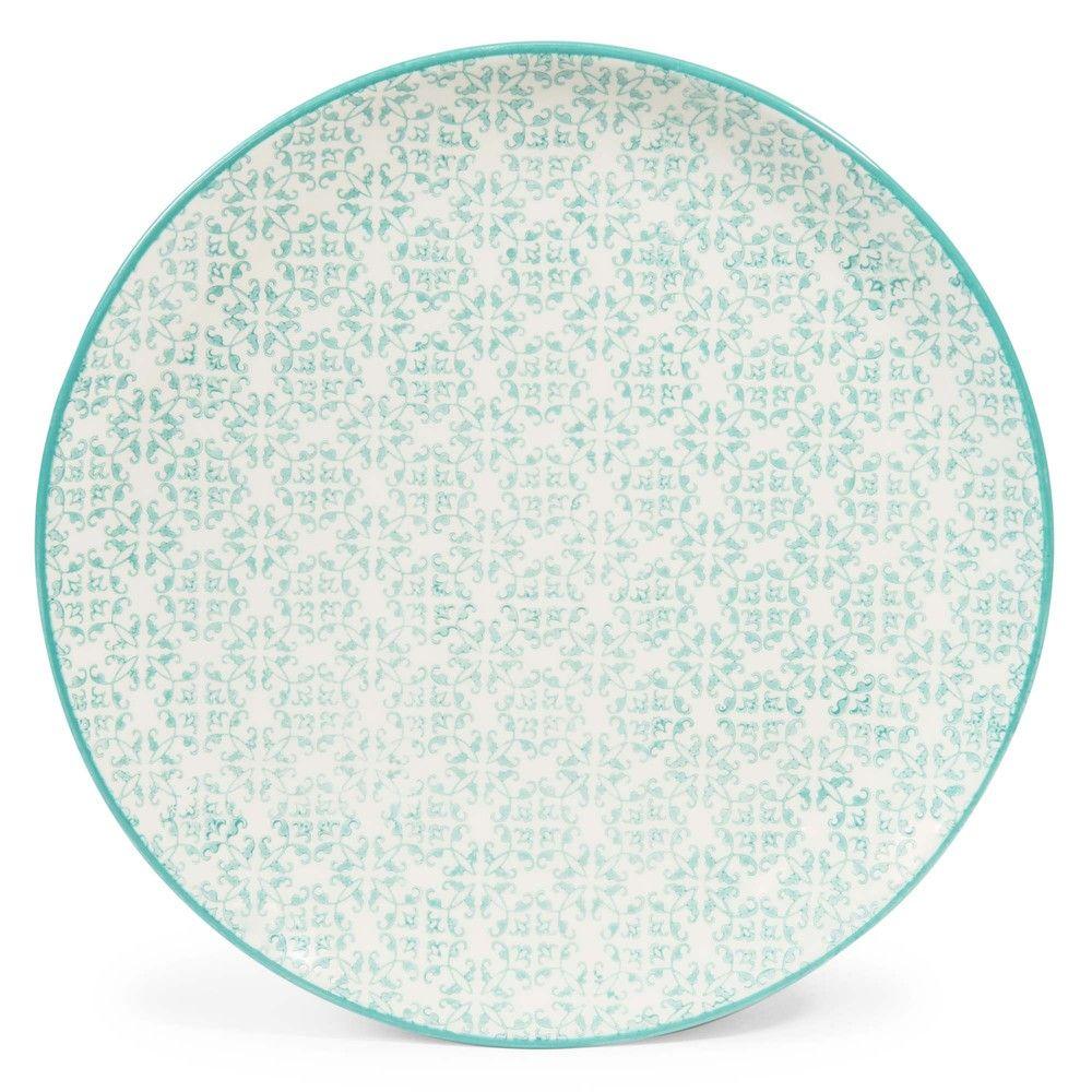 Assiette plate en faïence bleue D 27 cm en 2019   Products