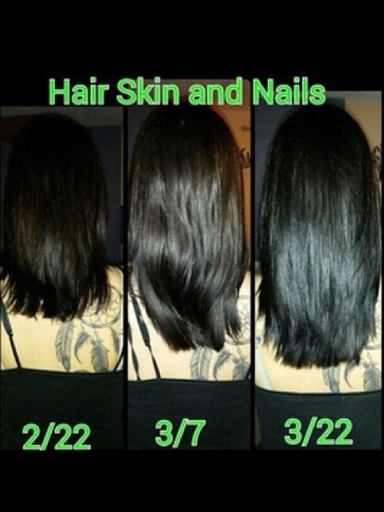 Hair skin nails by it works! And yes... It does work!! I\'ve been on ...