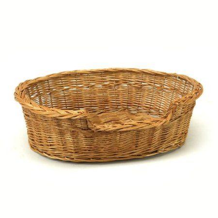Medium Wicker Pet Bed Basket Amazon Co Uk Pet Supplies Basket Dog Bed Wicker Dog Bed Wicker