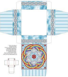 Don't Eat the Paste: April Rain Mandala Boxes to print and make