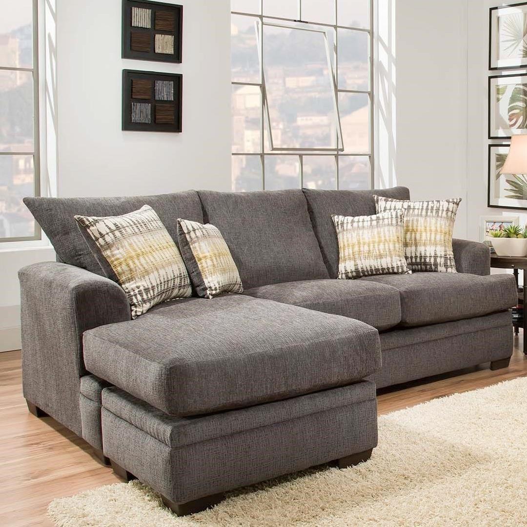 American Furniture Perth Smoke Sectional Sofa Sectional Sofa