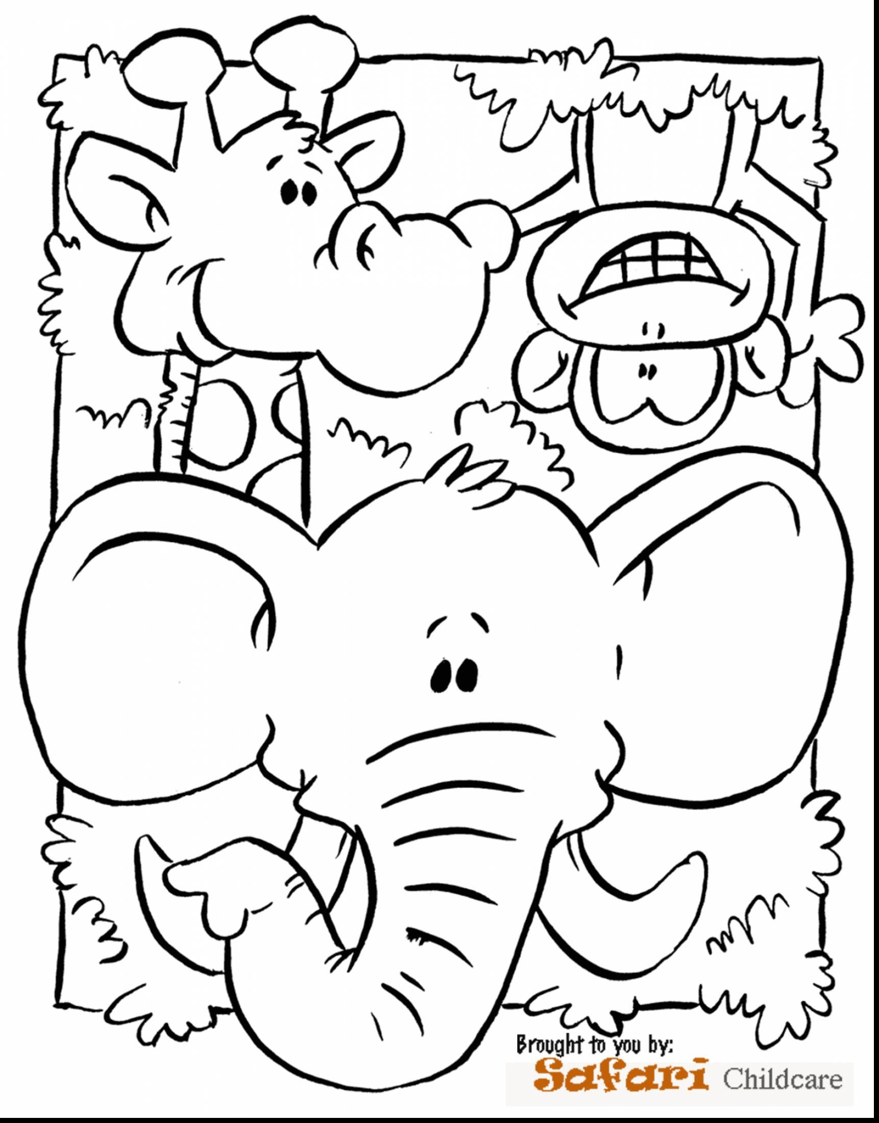 Remarkable Preschool Jungle Animals Coloring Pages With Page