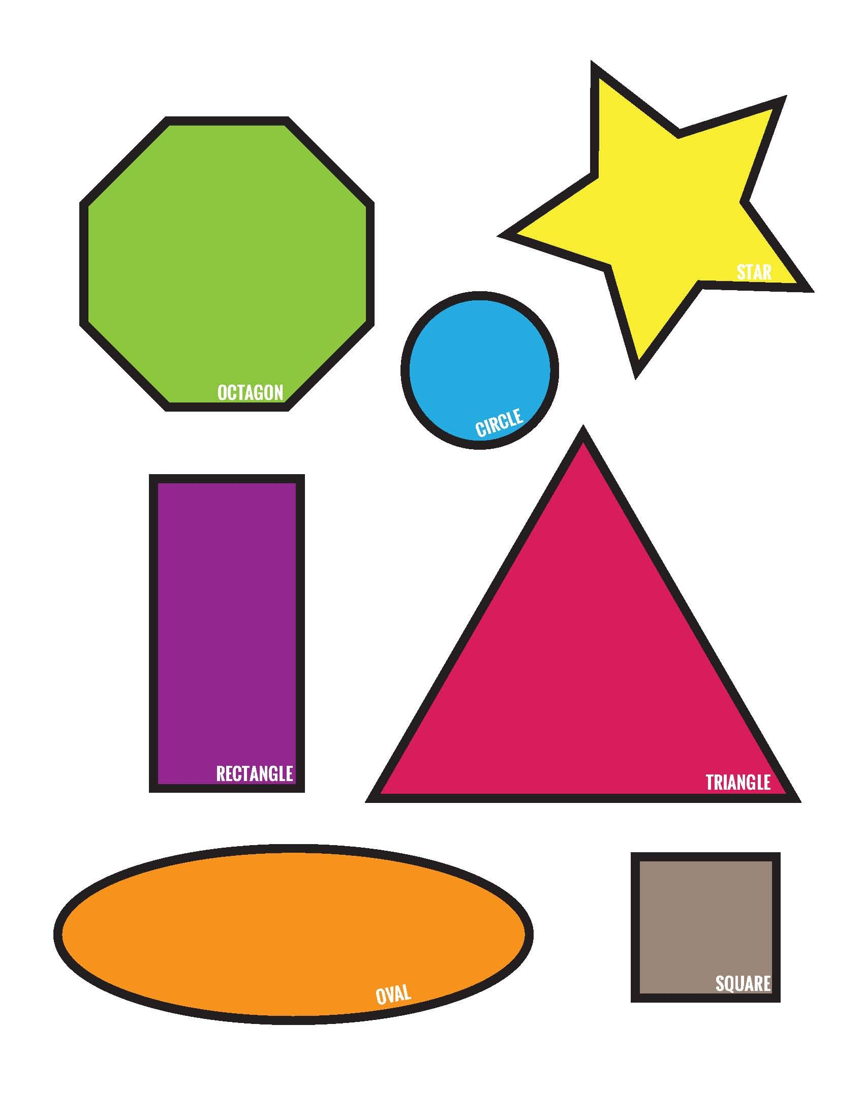 Shape Match Toddler Pre K File Folder Game Page 5