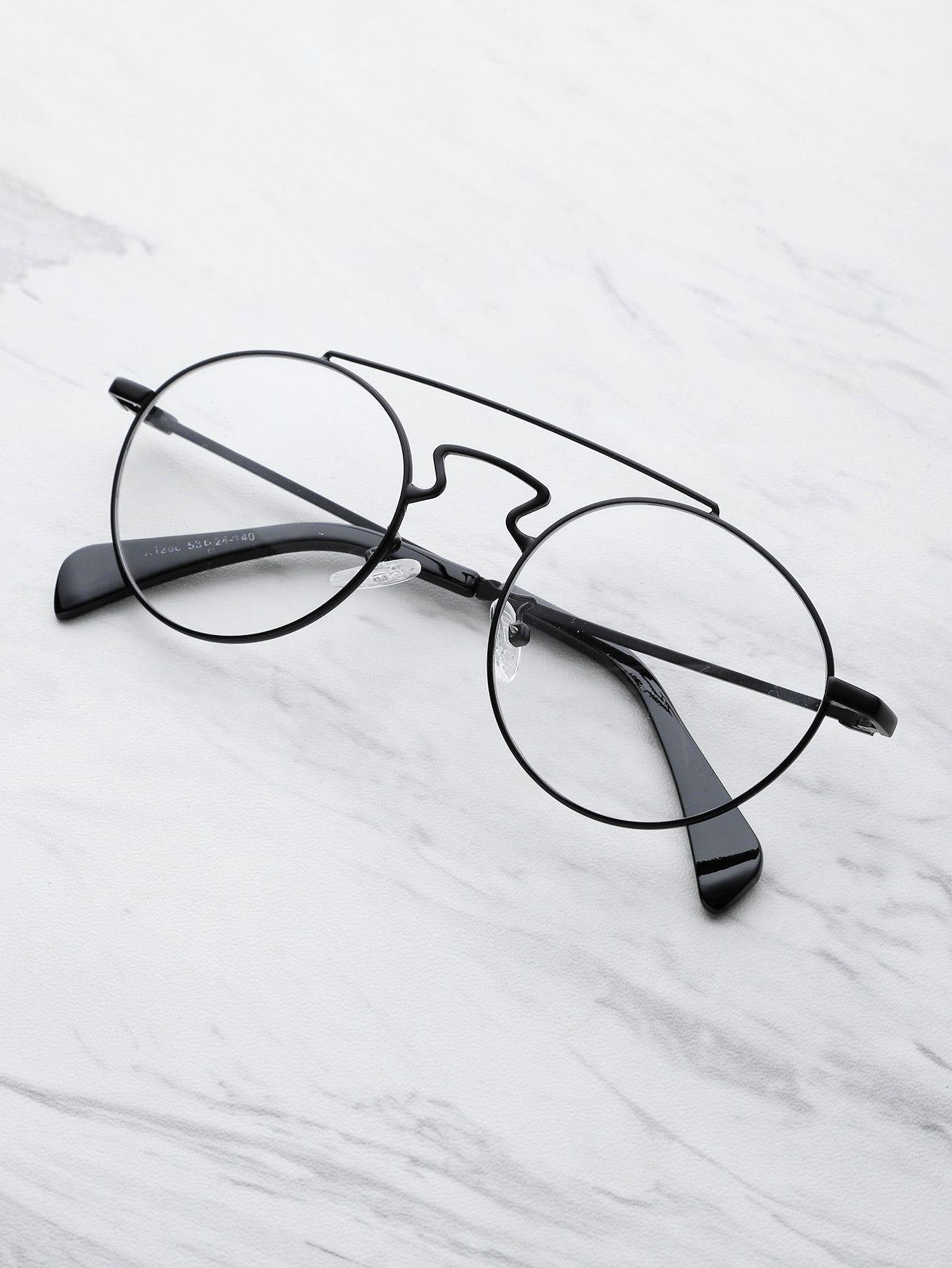 cf10f8deb9 Double Bridge Round Glasses