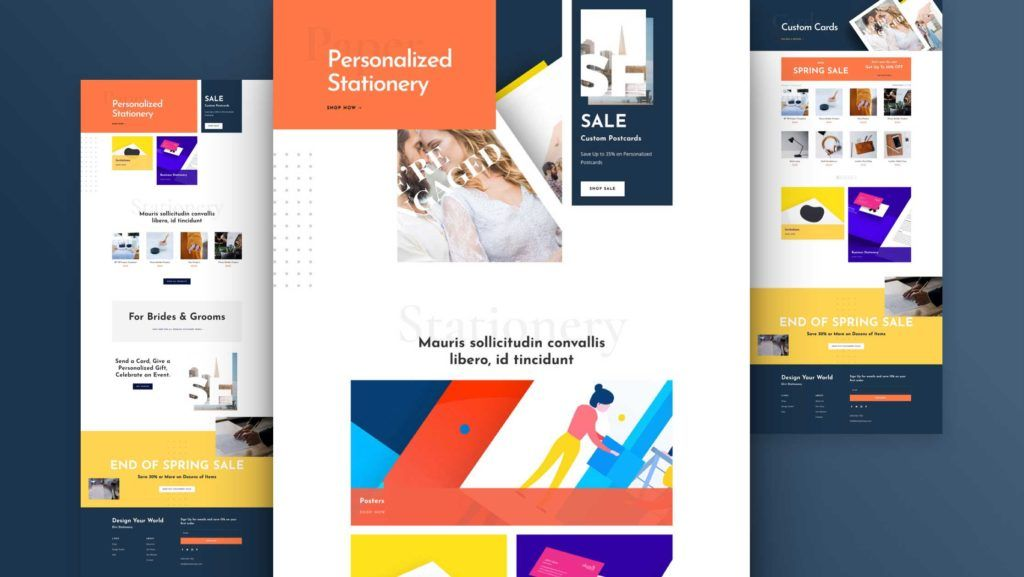 Get A Free Stationery Shop Layout Pack For Divi In 2020 Free Stationery Shop Layout Stationery Shop