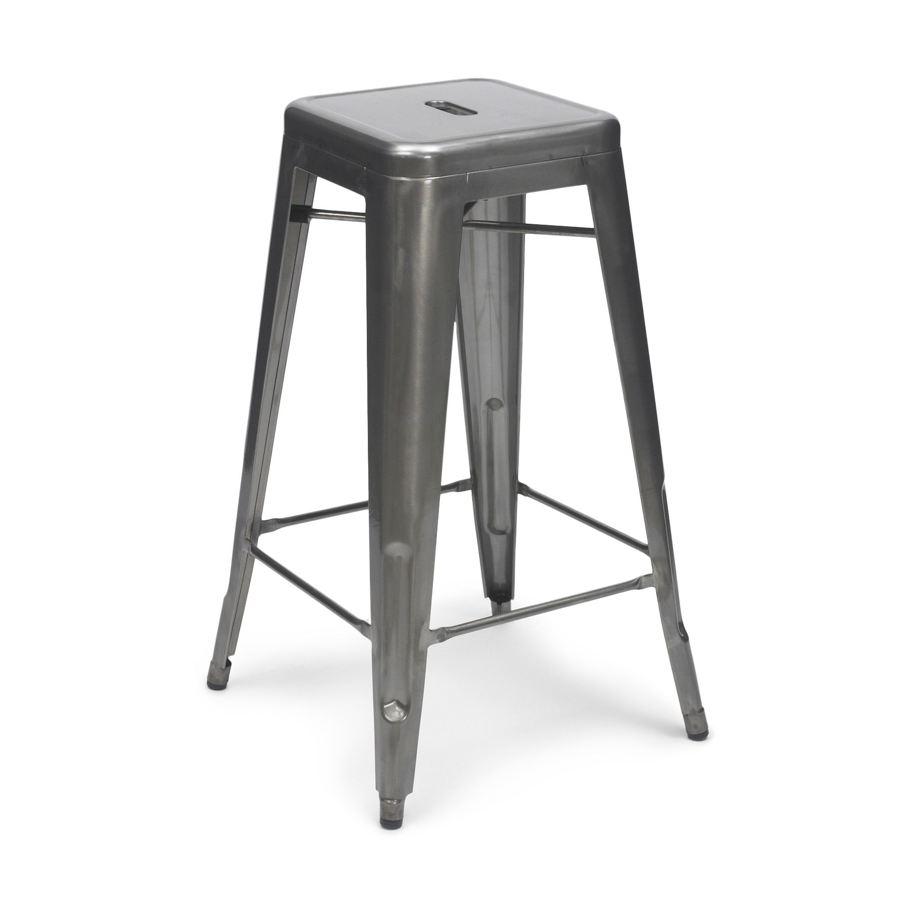 Super Gun Metal Tolix Stool (65cm/75cm) | Metal Stools LOVE  JJ49