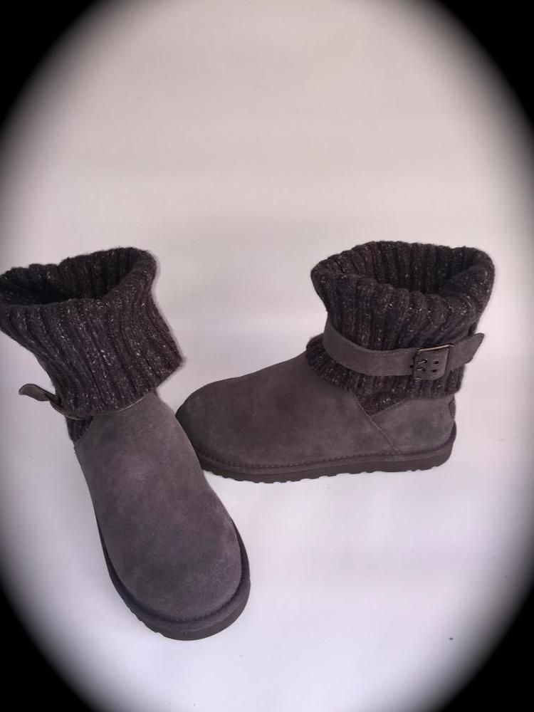 8865db780ae UGG Australia WOMEN'S Cambridge Knit UGG pure Lined Boot~GREY~SIZE 9 ...