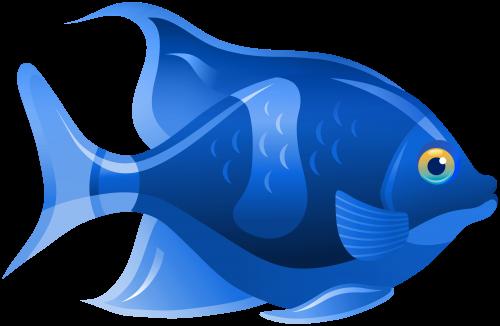 Blue Fish Png Clip Art Fish Clipart Fish Art Rock Painting Designs