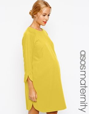 d66b10626d8 ASOS Maternity Shift Dress In Crepe With Cut Out