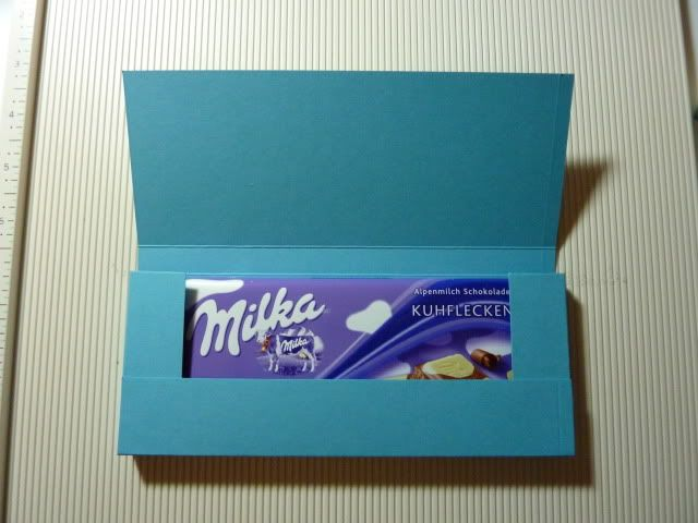 knoodoos Bastelwelt: Anleitung: Schokoladenverpackung aus A4